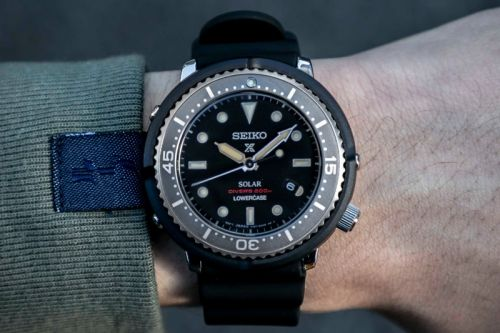 "Seiko & LOWERCASE Release the ""Solar Tuna"" With a Faded Ghost Bezel"