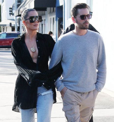 Best Pals! Khloé Kardashian and Scott Disick Walk Arm in Arm While Out and About in Calabasas