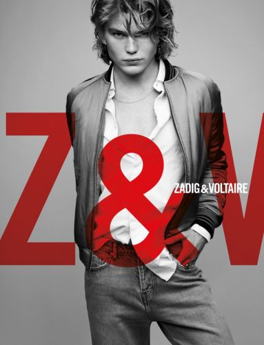 Jordan Barrett Goes Casual in Denim for Zadig & Voltaire Spring '19 Campaign