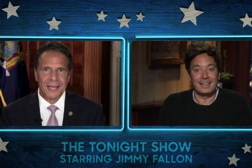 Jimmy Fallon welcomes Gov. Andrew Cuomo during first show back in studio