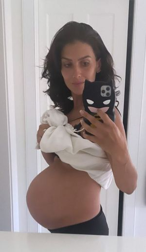 Hilaria Baldwin Shares Photo Of Her HUGE Baby Bump On Instagram