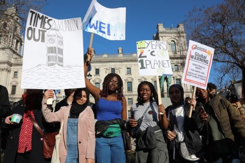 Young people across the UK skipped school to protest for climate action