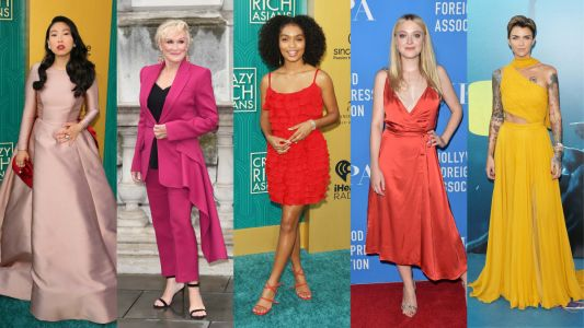 Celebs Wore a Rainbow of Warm Tones on the Red Carpet This Week