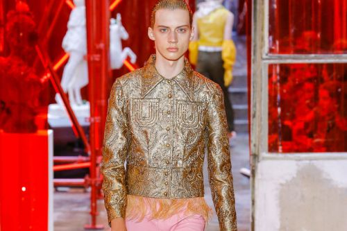 Galliano's first couture menswear show for Margiela