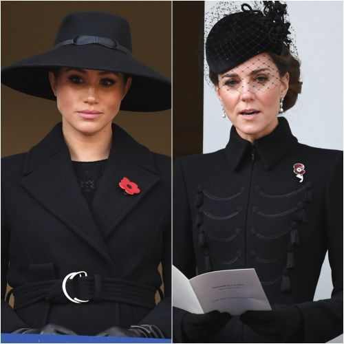 Duchess Meghan, Duchess Kate, Prince Harry and Prince William Reflect at Remembrance Sunday Service