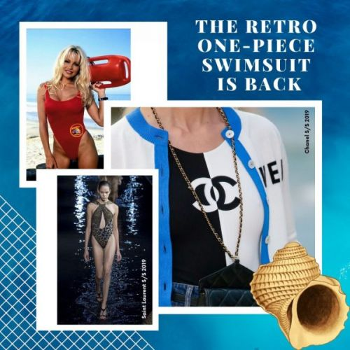 The Retro One-Piece Swimsuit Is Back
