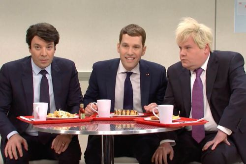 SNL recreates NATO's hot-mic moment as school cafeteria clique
