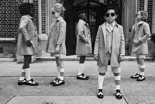Thom Browne Turns Kids into Adults with his Summer Childrenswear Collection