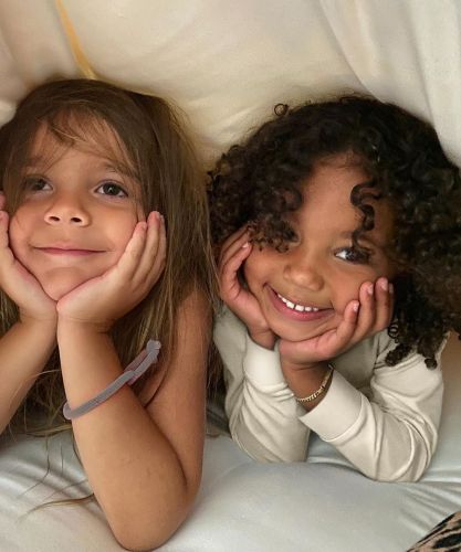 Kim Kardashian Shares Cute Photo of Saint West and Reign Disick Looking Like Total BFFs: 'These Two'