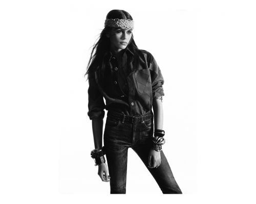 Kaia Gerber Stars In Saint Laurent's Fall 2018 Campaign