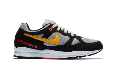 """Nike's Air Span II Gets Reworked in a """"Black/Yellow/Wolf Grey"""" Color Scheme"""
