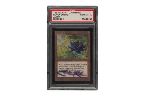 EBay Is Looking to Break Records With This Signed PSA 10 MTG Alpha Black Lotus Card
