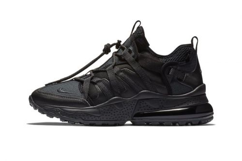 """Nike Covers the Air Max 270 Bowfin in a Slick """"Triple Black"""" Color Scheme"""