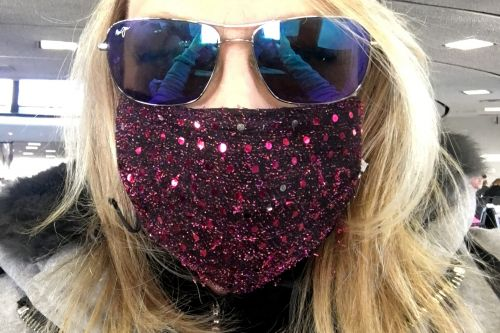 Fashion Week attendees are jazzing up their flu masks