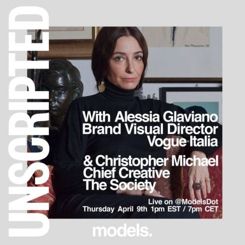 """Watch """"Unscripted: With Vogue Italia's brand visual director Alessia Glaviano"""" today on Instagram Live"""
