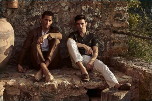 Ollie Edwards & Alexis Petit Luxuriate in Deià for Mango High Summer '18 Campaign