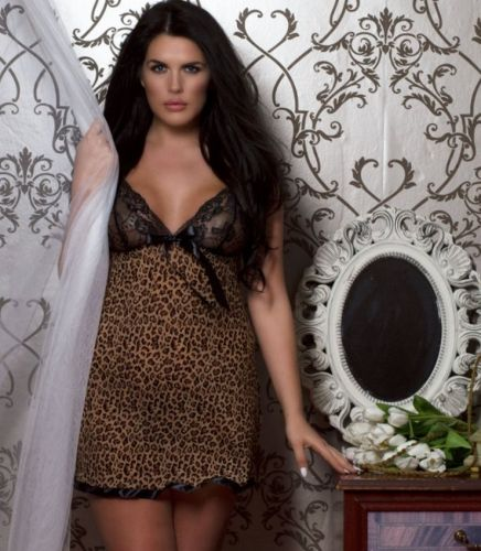 LIKE: Animal Print Plus Size Babydoll