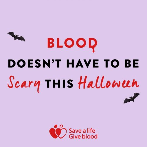 Blood isn't scary - register to save a life this Halloween!