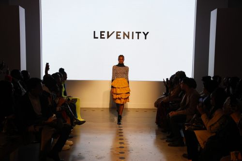 Designer Vinny Etienne of Levenity Presents A Vibrant Collection At ESSENCE Fashion House