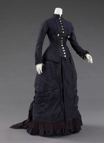 Fashionsfromhistory: Dress 1877 The MET