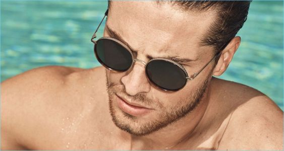 Edward Wilding Relaxes Poolside for Joop! Spring '18 Campaign