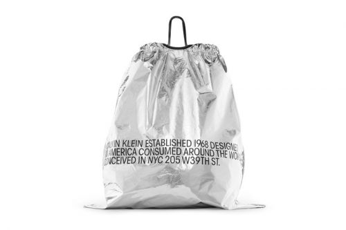 CALVIN KLEIN 205W39NYC's Oversized Metallic Drawstring Bag is Available for Pre-Order
