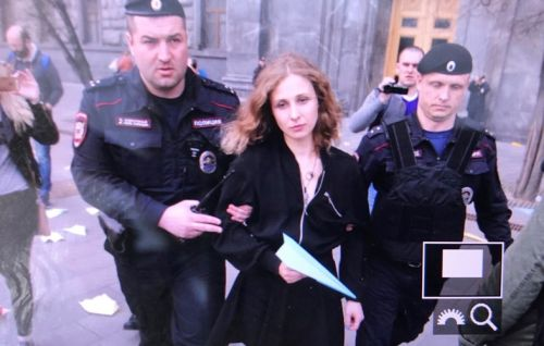 Pussy Riot's Masha arrested for throwing paper planes in Russia protest