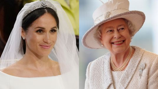 Queen Elizabeth Reportedly Didn't Expect Meghan Markle to Wear a White Wedding Dress
