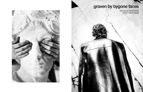 Graven by bygone faces