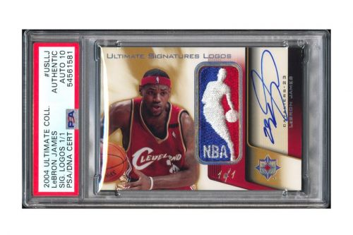 LeBron James Signed 1/1 Logoman Game Used Patch Card Sells for Record $1.29M USD