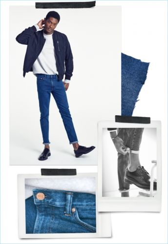 Hamid Onifade Rocks Jeans for H&M Denim Style Guide