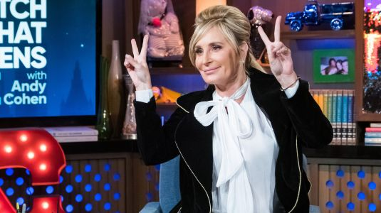 'RHONY' Star Sonja Morgan Passionately Makes Out With a Mystery Woman