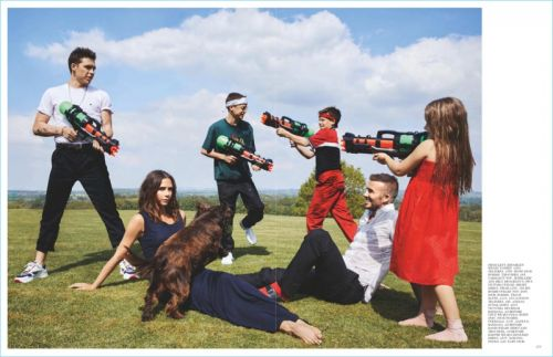 Clan B: The Beckham Family Stars in British Vogue Cover Story