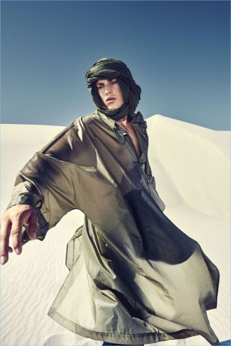 Louren Groenewald Channels Lawrence of Arabia for Harrods