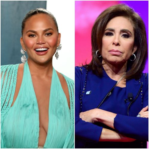 Chrissy Teigen Jokingly Calls Out Jeanine Pirro for Having a Photo of Her Boobs on Her Phone