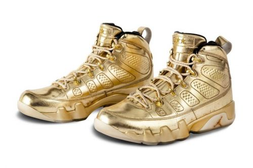 "Usher's Air Jordan 9 and 11 ""Metallic Gold"" Samples Are up for Auction"