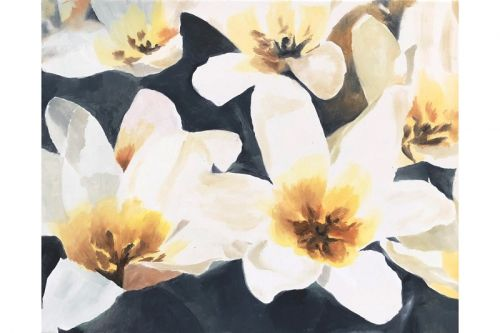 Lucien Smith Unveils New Floral Paintings for Half Gallery Pop-Up in Paris