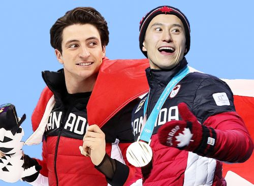 We Are *Seriously* Shipping BFFs Scott Moir and Patrick Chan