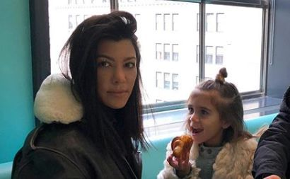 Kourtney Kardashian and Penelope Disick Are Totally Twinning Wearing Matching Swimsuits in Italy