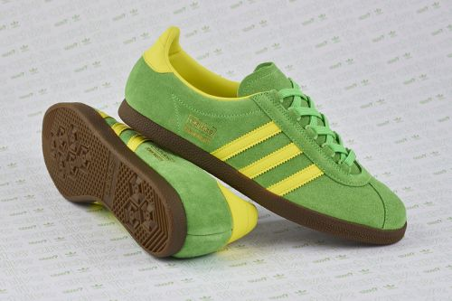 """Size? & adidas Originals Resurrect the Trimm Master in """"Lime/Yellow"""""""