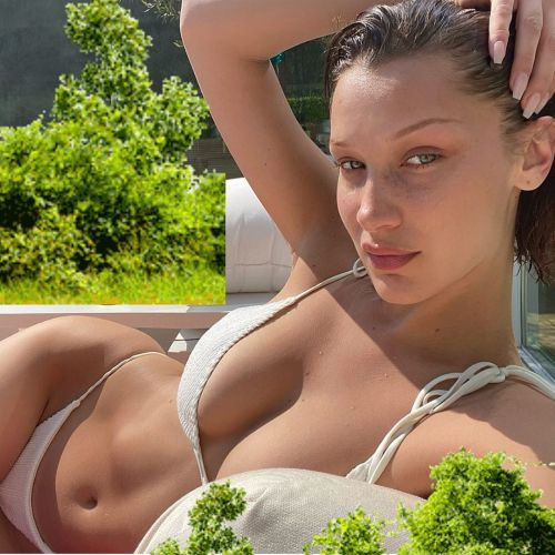 Bella Hadid Shows Off Amazing Abs in Sultry Bikini Selfie: 'Lucky to Get Some Vitamin D'