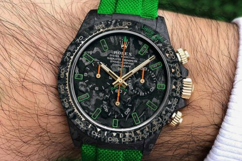 DiW Drops a New $48,000 USD Carbon-Lime Daytona Watch