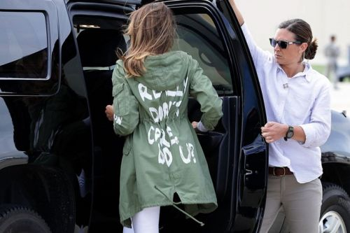 Fuck Melania, and her 'I REALLY DON'T CARE' jacket