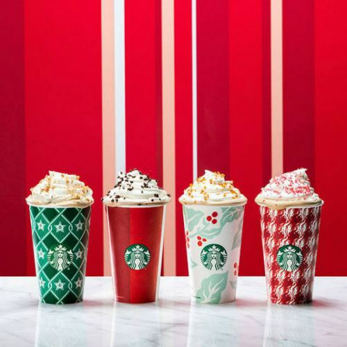 This Nail Art Is A Striking Tribute To The Starbucks Holiday Cups