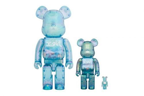 Medicom Toy and X-Girl Link up for Translucent Glow-In-The-Dark BE RBRICK
