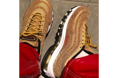 "Nike's Air Max 97 ""Metallic Gold"" Gets Swathed in Swarovski Crystals"