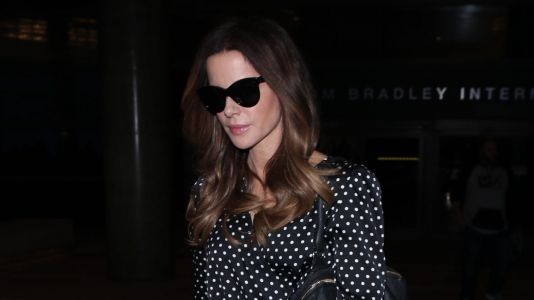 Super Babe Kate Beckinsale Lands at LAX in Chic Jumpsuit
