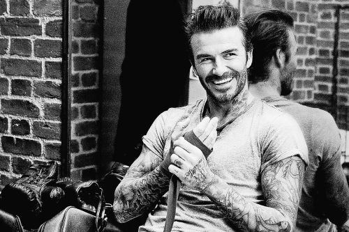 Blend it like Beckham? Soccer icon debuts grooming line