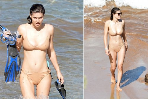 Alexandra Daddario steams up the beach in a bikini and more star snaps