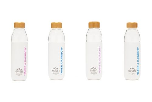 Virgil Abloh's Updates Evian x Soma Water Bottles for New Release
